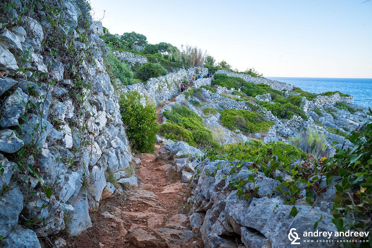 Екопътека край морето до фиорда Чоло, Саленто, Южна Италия