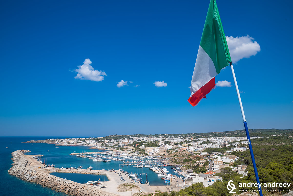 A view to the town of Leuca, Puglia