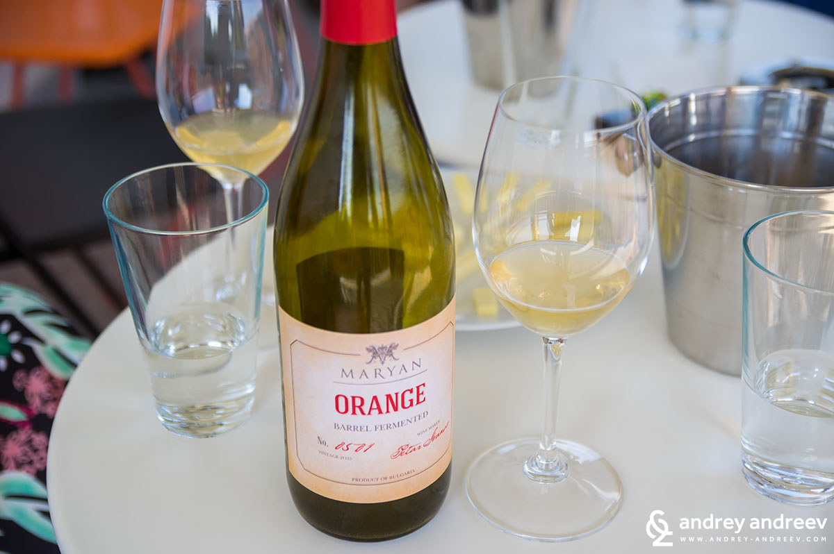 The Orange Wine (made from grapes not from Oranges)