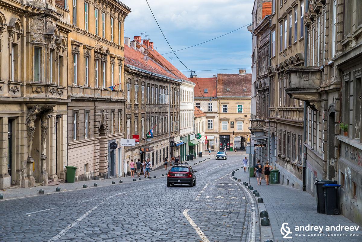 Mesnicka street, Zagreb, Croatia