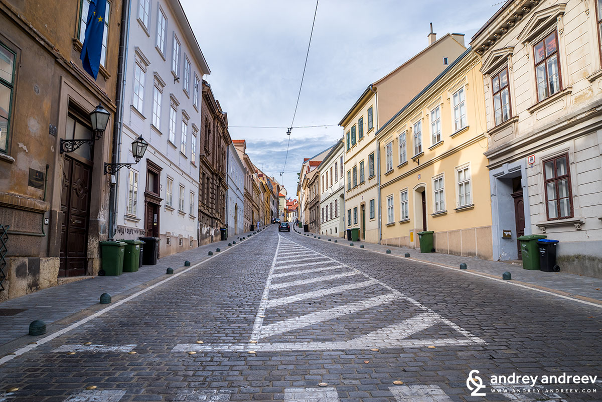 Streets of old Zagreb