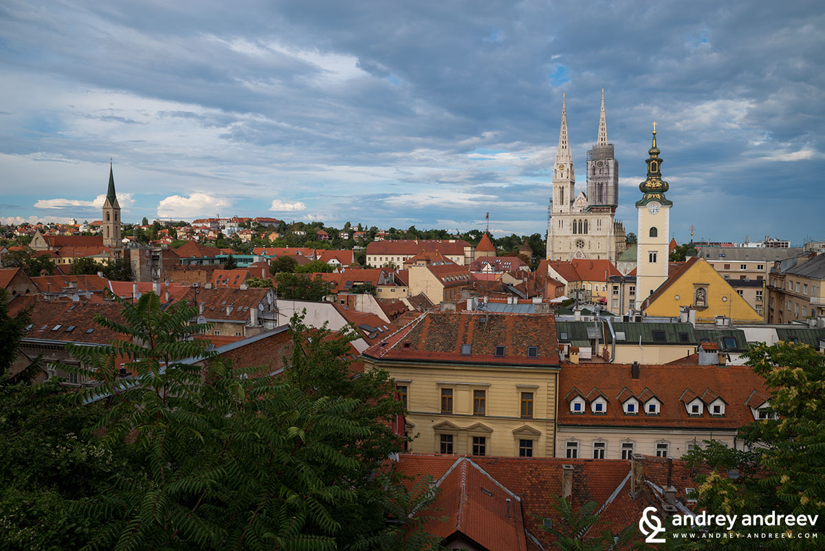 The view from the terrace of Gradec cinema, Zagreb