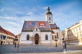 Църква и площад Св. Марк в Загреб, Хърватия