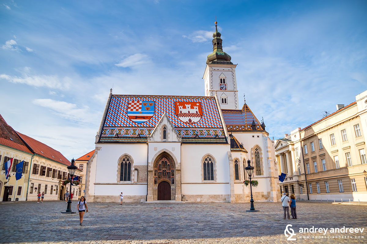 Saint Mark's church and square, Zagreb