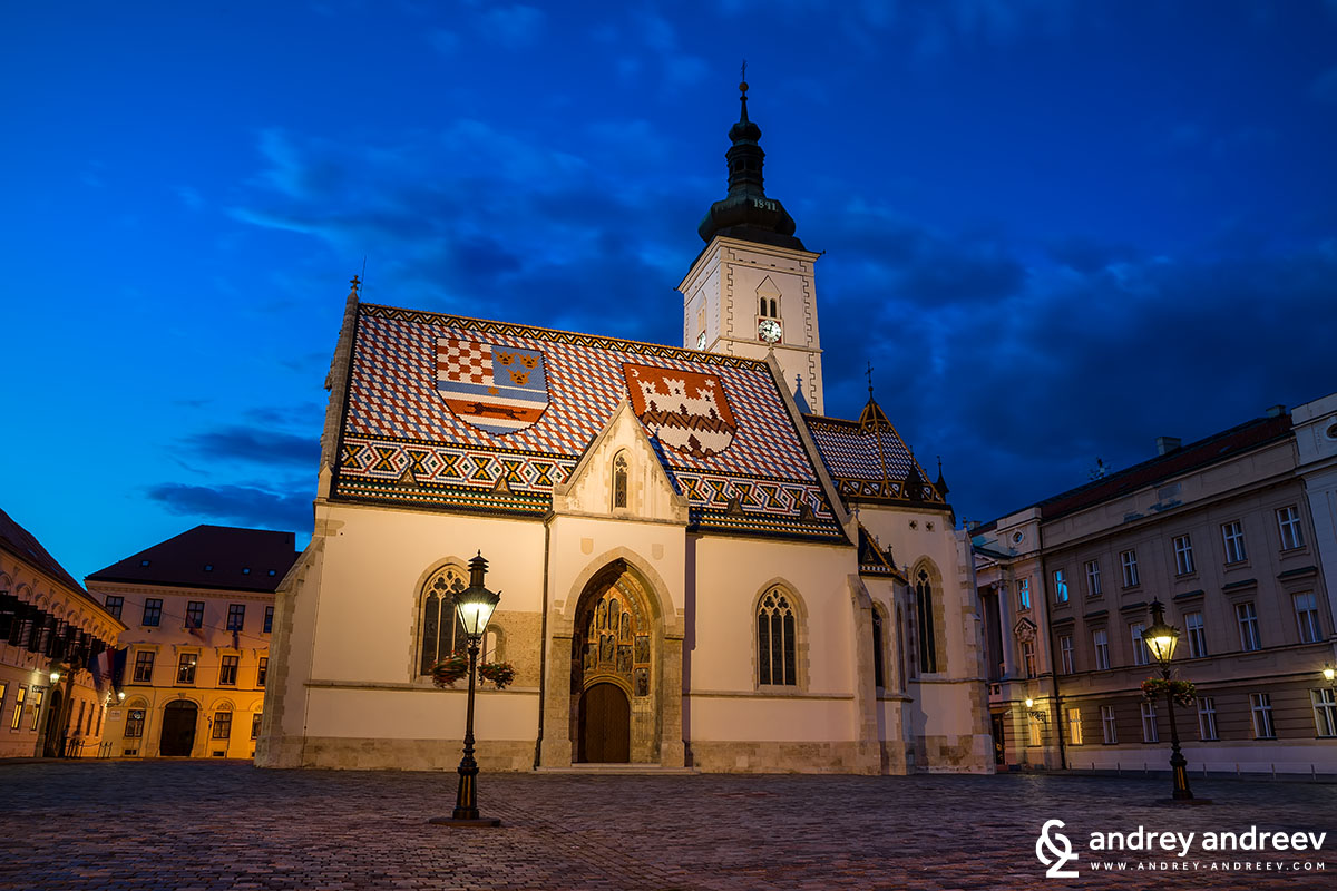 Saint Mark's church and square, Zagreb, Croatia