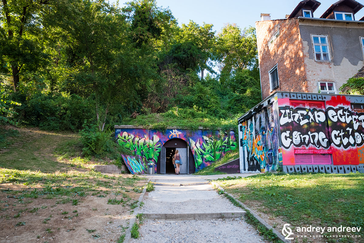 Entrance to Gric Tunnel at the Art Park