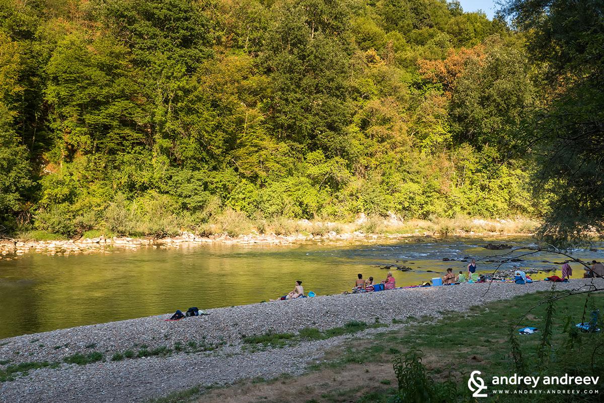Плаж край воденицата в Словения