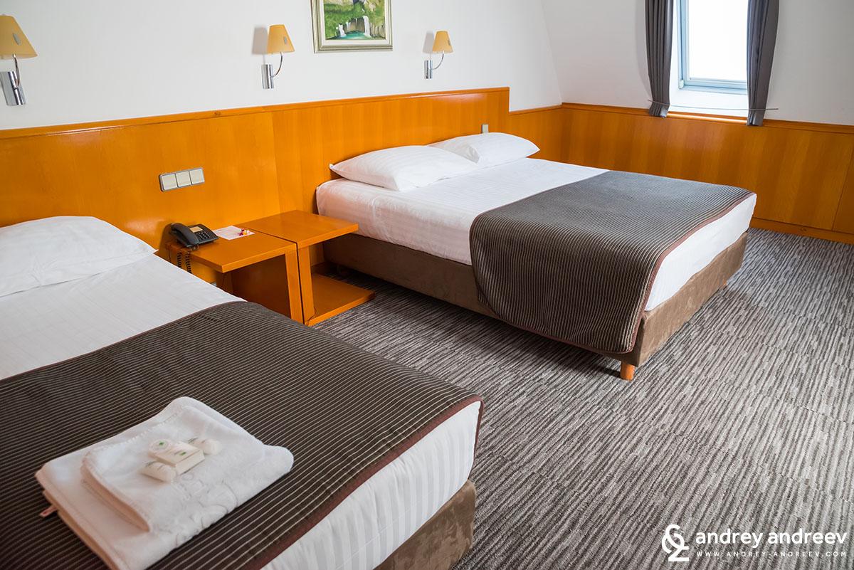 Стаята ни в хотел Грабовац, Плитвички езера