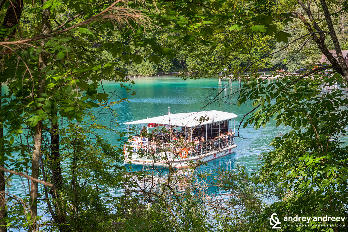 The boat at Plitvice Lake