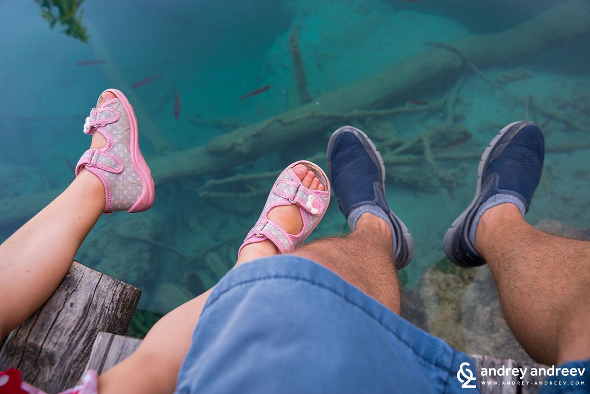 Ани и Андрей на Плитвичките езера