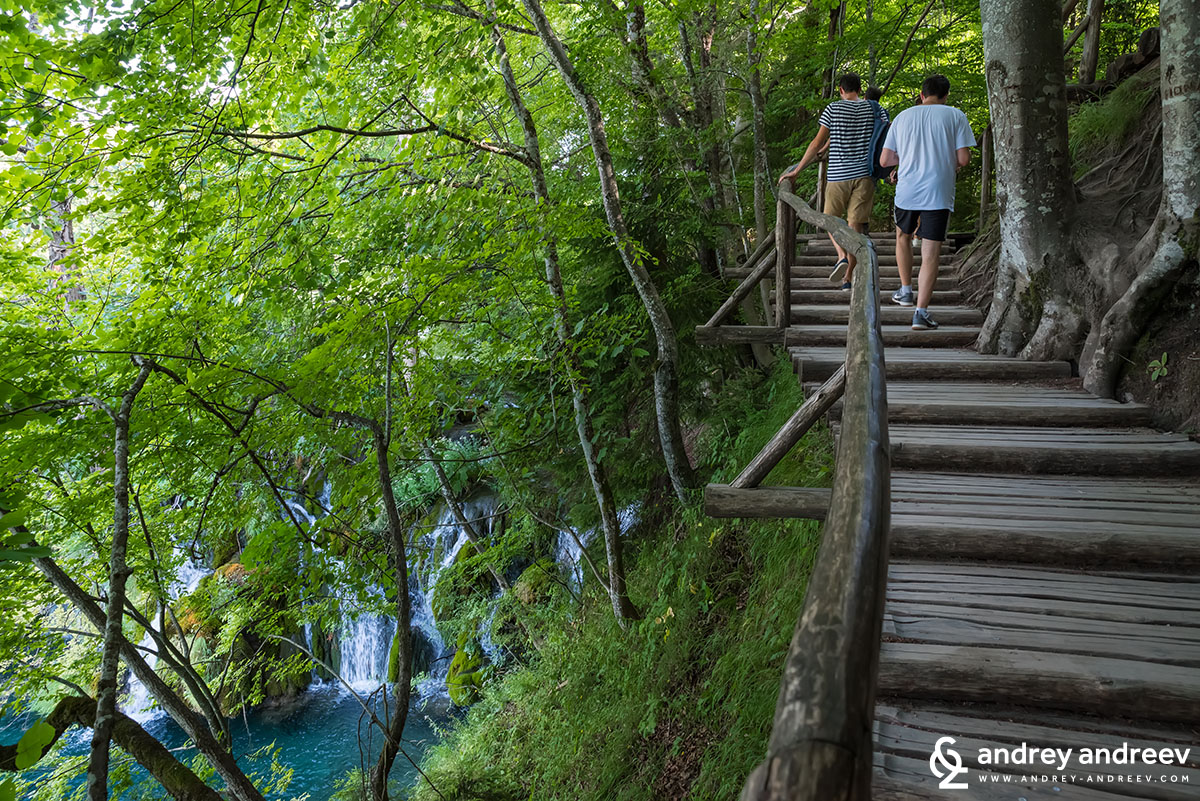 Wooden bridges at Plitvice Lakes