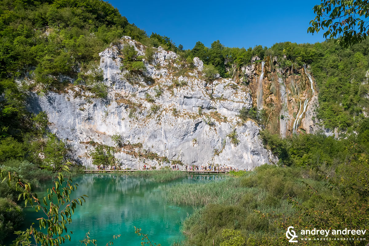 The rocks near Plitvice Lakes