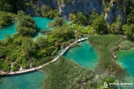 Plitvice Lakes from above, Croatia