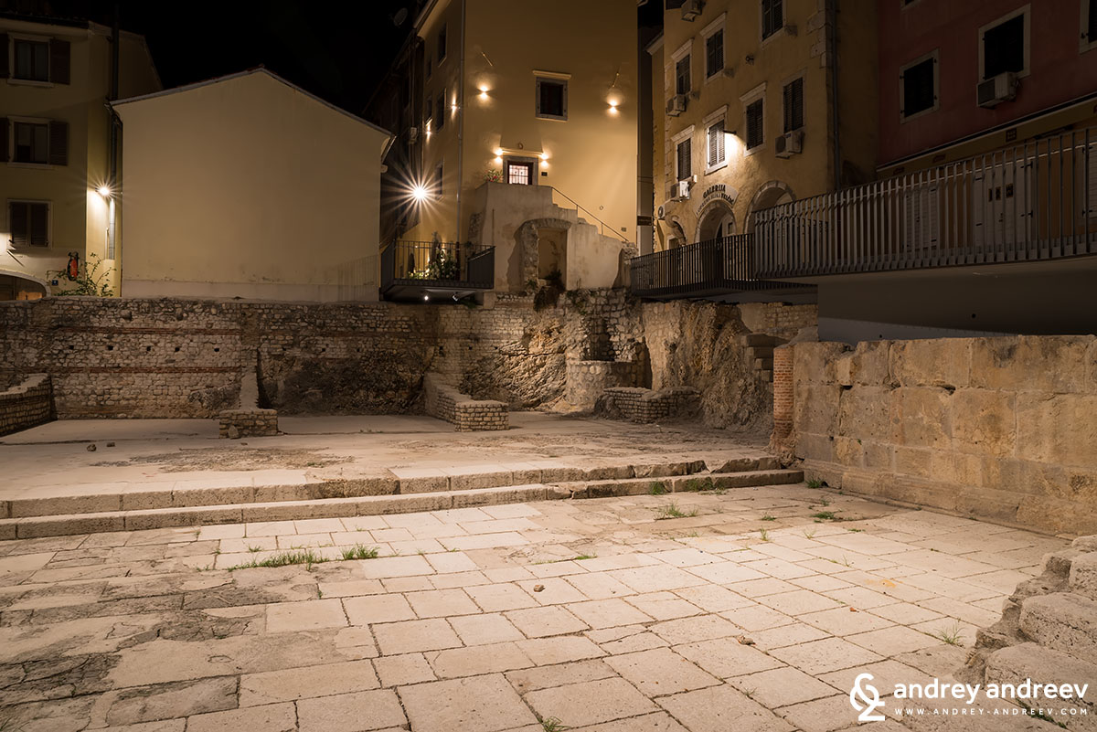 Roman remains in Rijeka Old town
