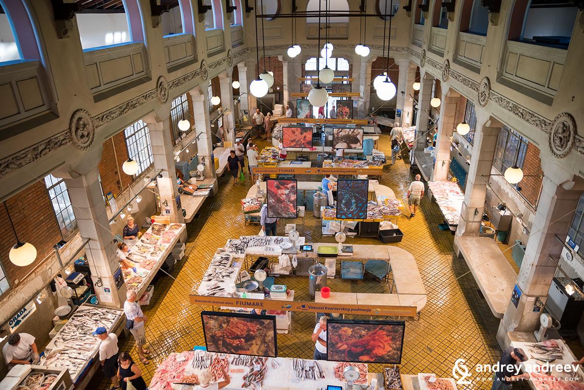 Рибният пазар в Риека