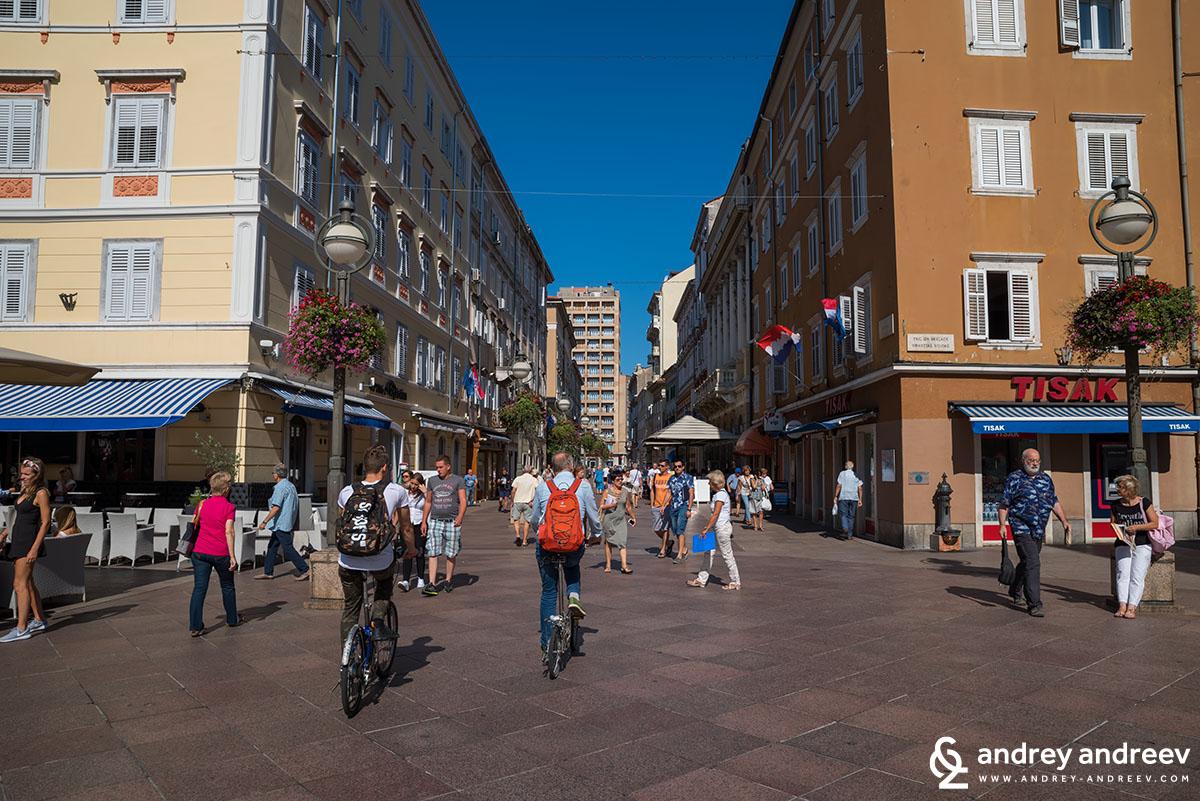 Korzo street, Rijeka, Croatia