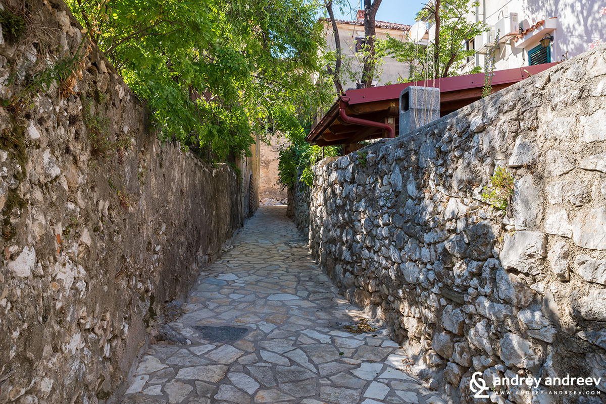 Small streets in Bakar, Croatia
