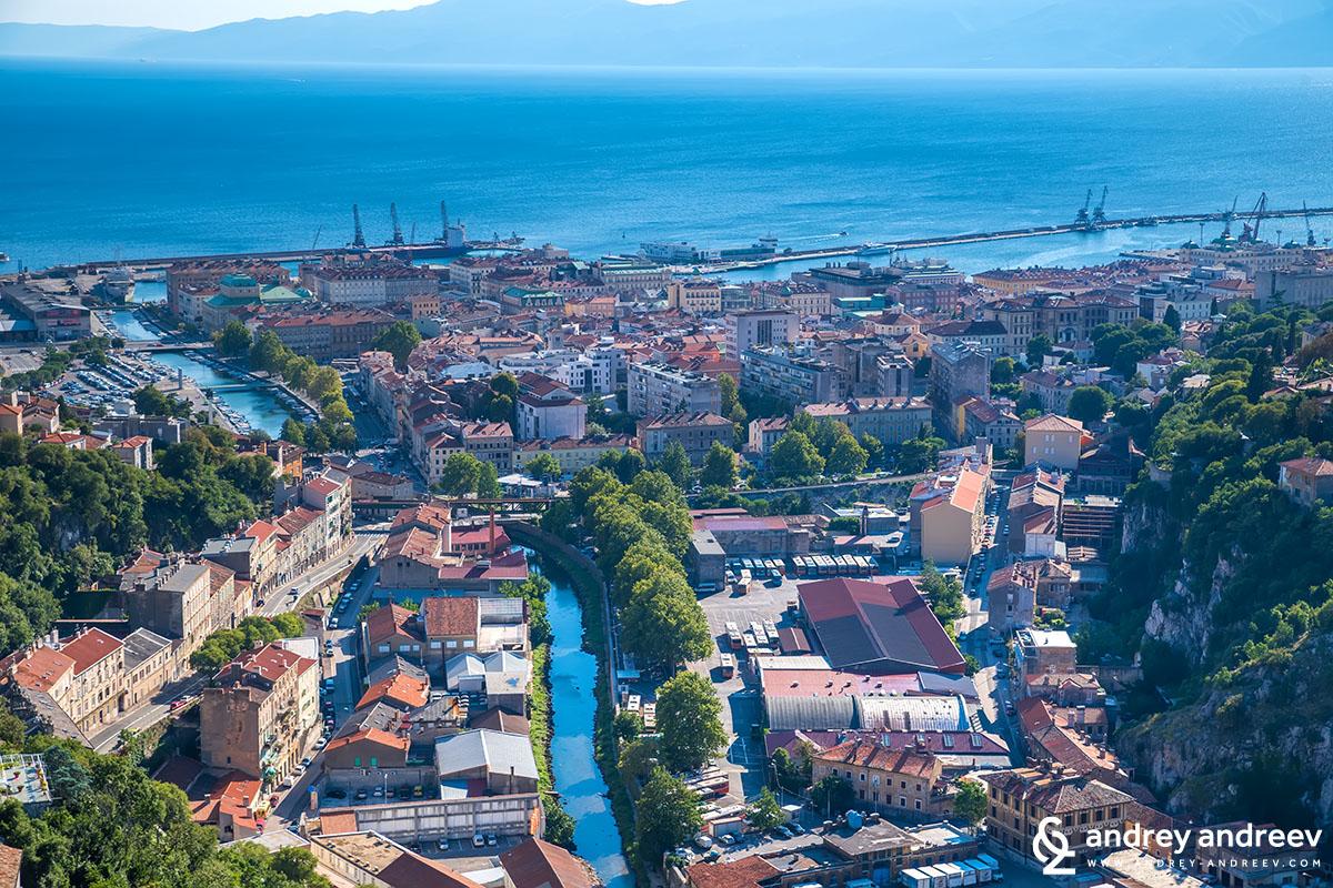 Rijeka - a view from Trsat