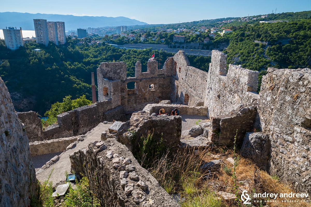 Гледка от крепостта Трсат