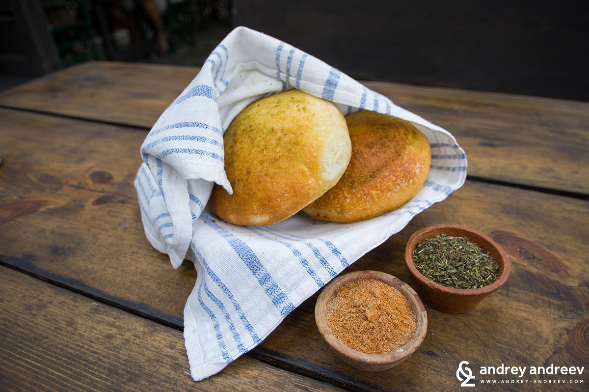 Bread with Sharena sol - Bulgarian food
