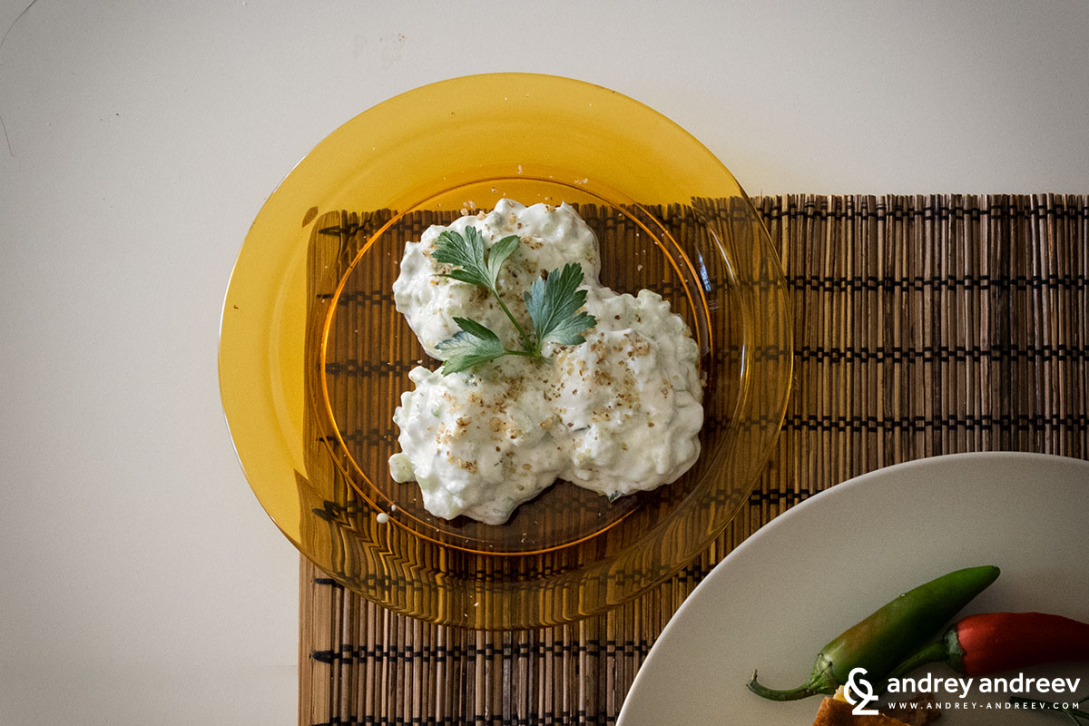 Snezhanka salad - Bulgarian food