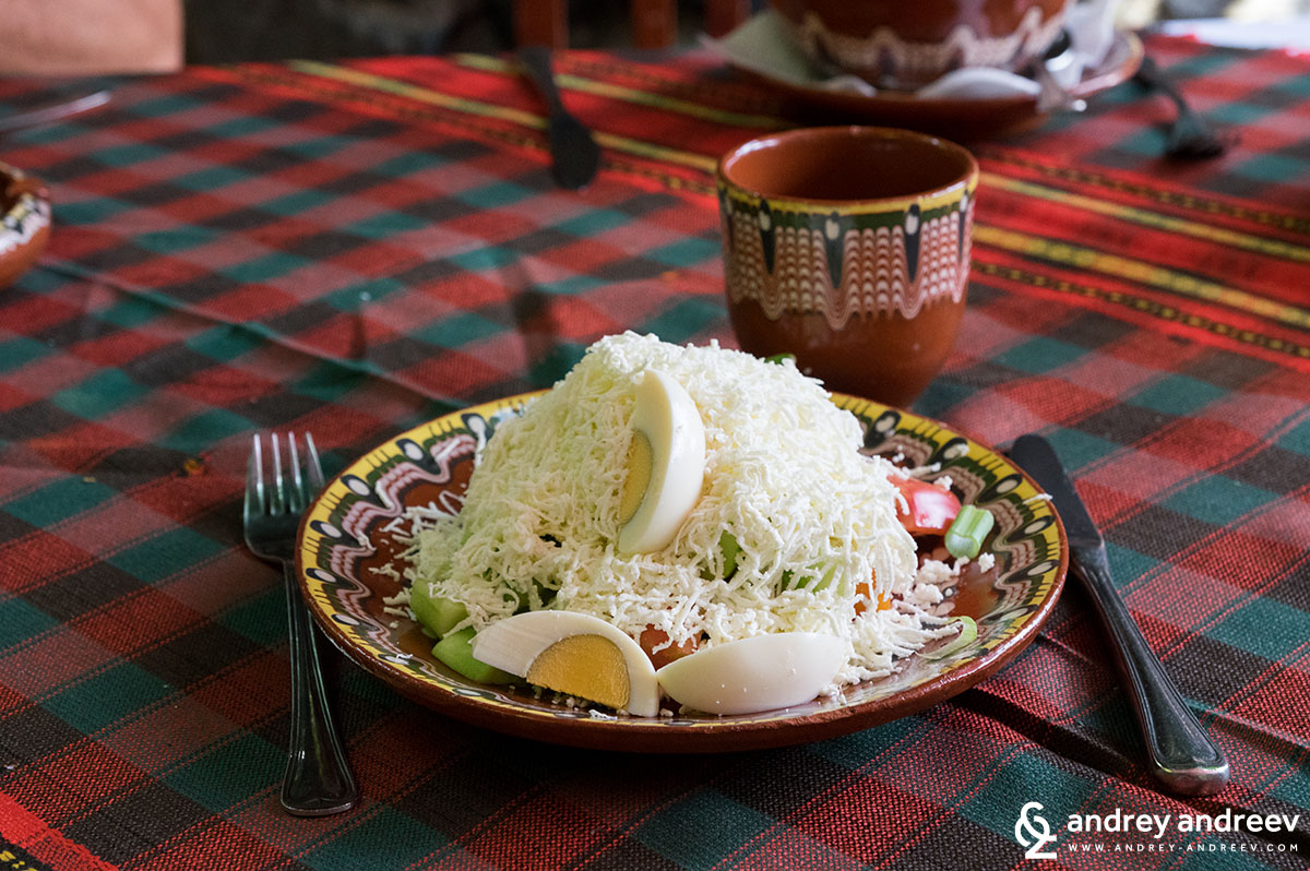 Shopska Salad - traditional Bulgarian food