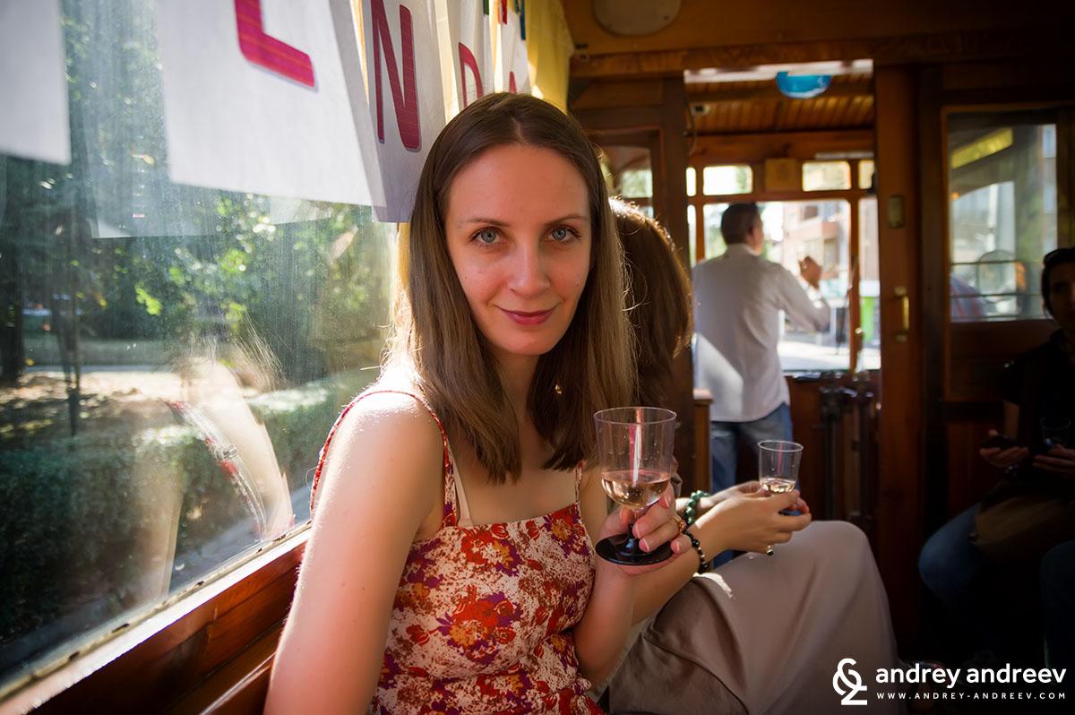 Maria Tasting Bulgarian wines