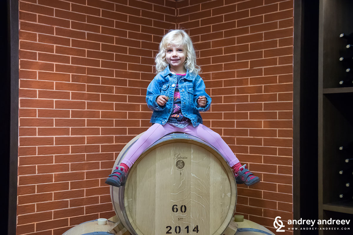 Our daughter Anna and the barrel produced in the same year she was born
