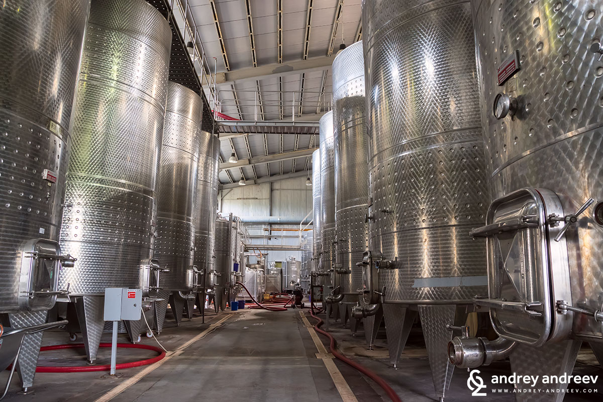 Fermentation tanks at Medi Valley winery, Bulgaria