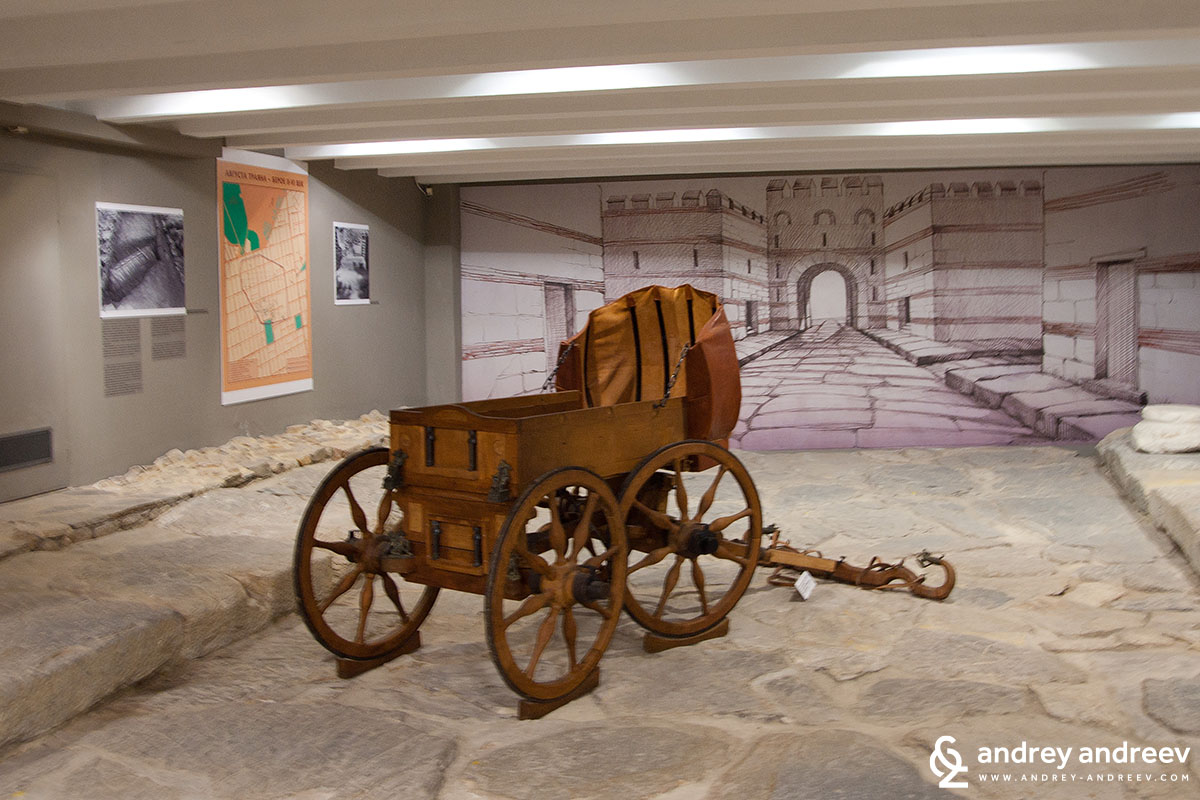 Roman street in the Stara Zagora History museum, Bulgaria