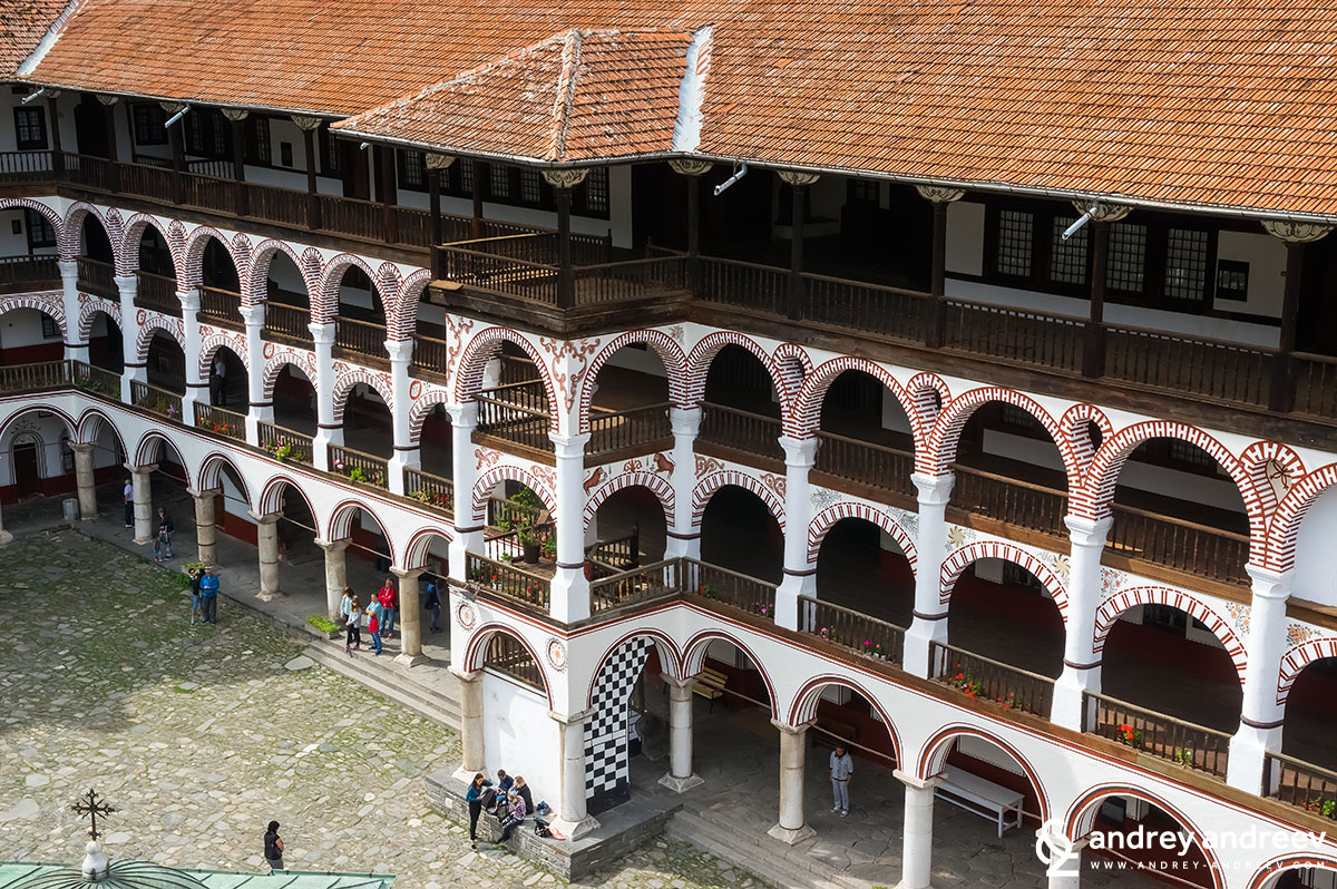 The monastery's buildings