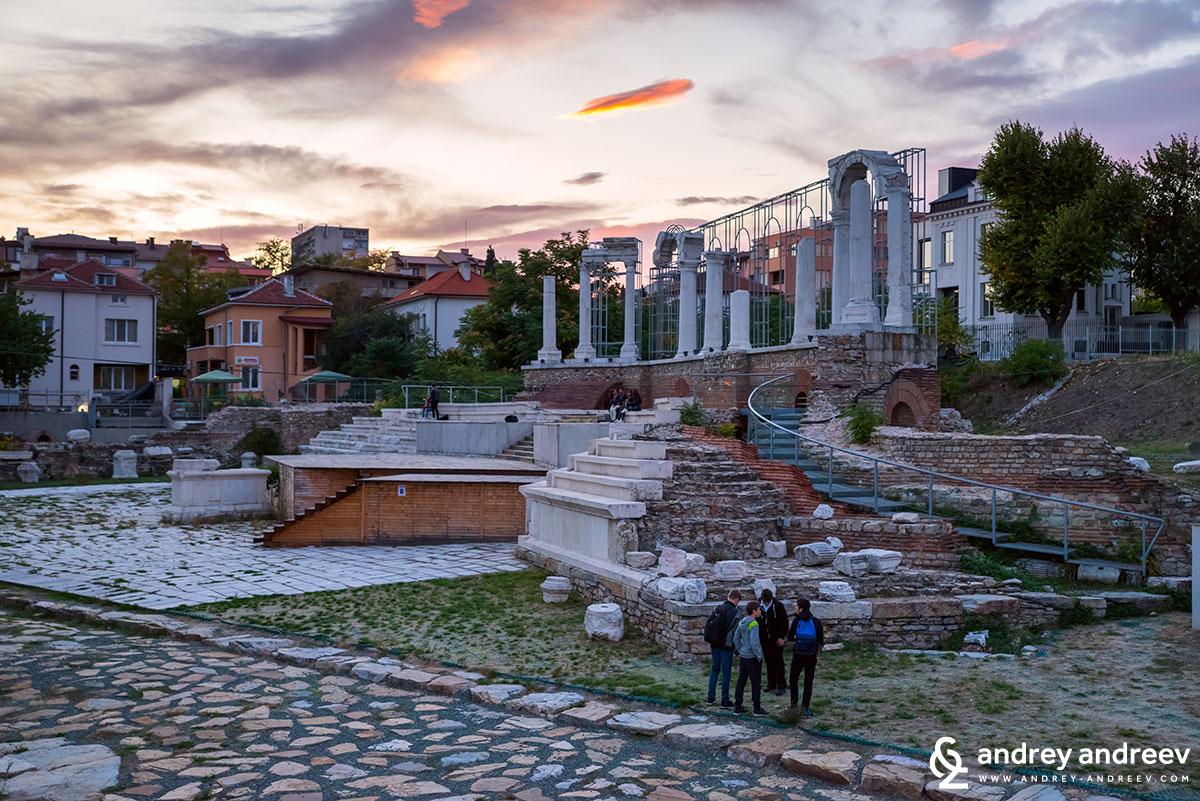 The Roman forum in Stara Zagora