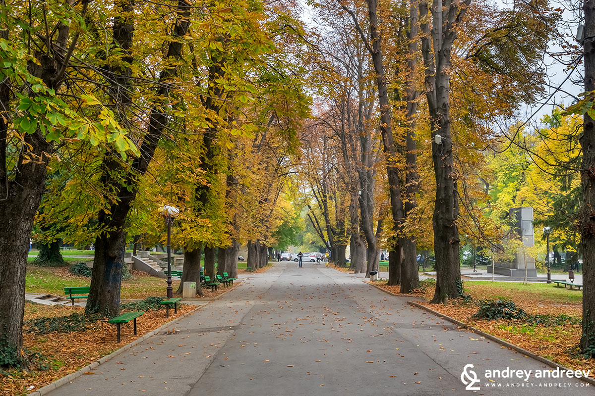 The 5-th october park in Stara Zagora