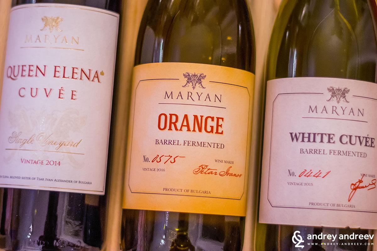 Оранжево вино от димят от Марян