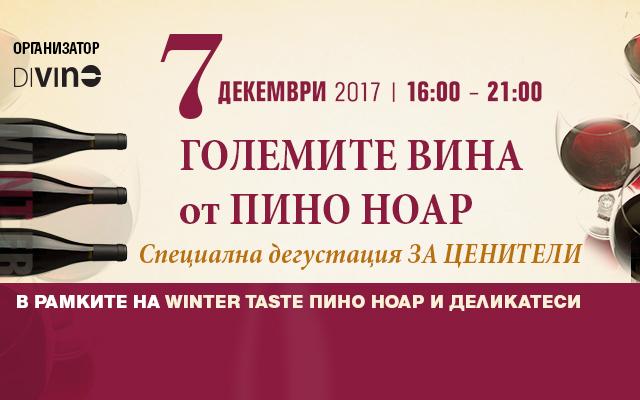 Великите вина от Пино ноар - специална дегустация, Winter.Taste
