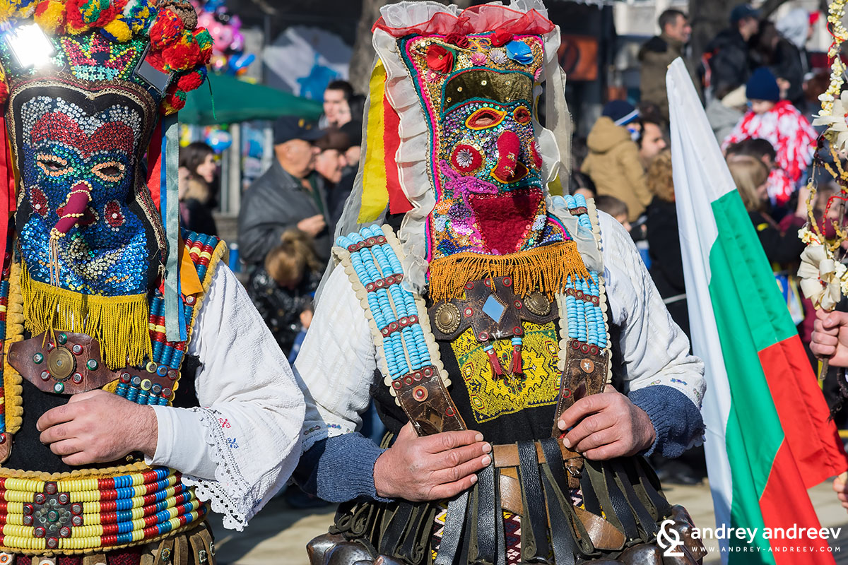 Colourful Kukeri from Vesselinovo village, Bulgaria
