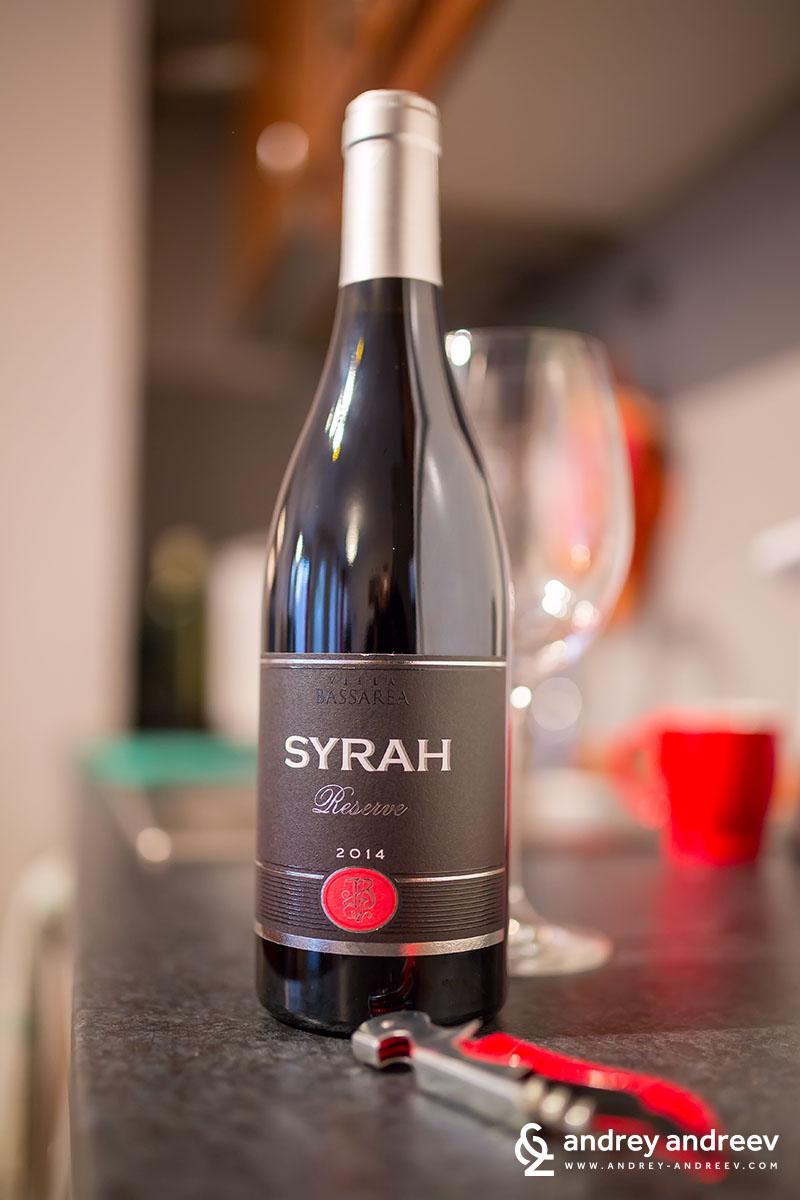 Villa Bassarea Syrah Reserve 2014, Bulgarian red wine, Bulgarian syrah wine
