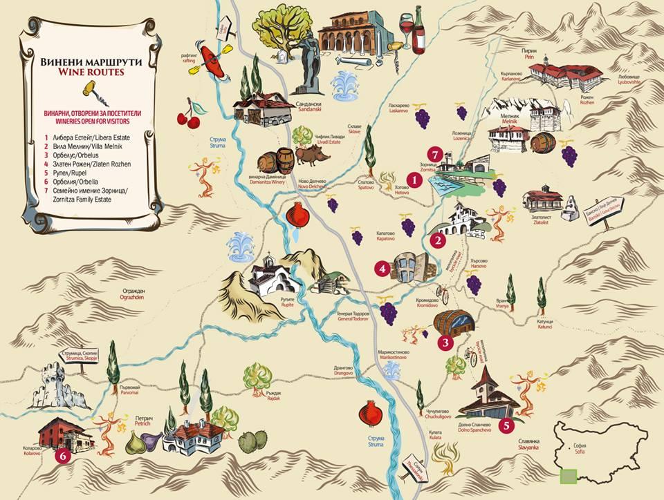 Дни на отворените врати в Мелнишко - карта