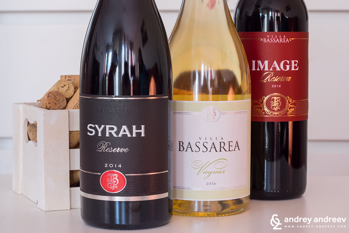 Three wonderful wines by Villa Bassarea - Syrah Reserve 2014, Viognier 2016 and IMAGE Reservd Red 2014