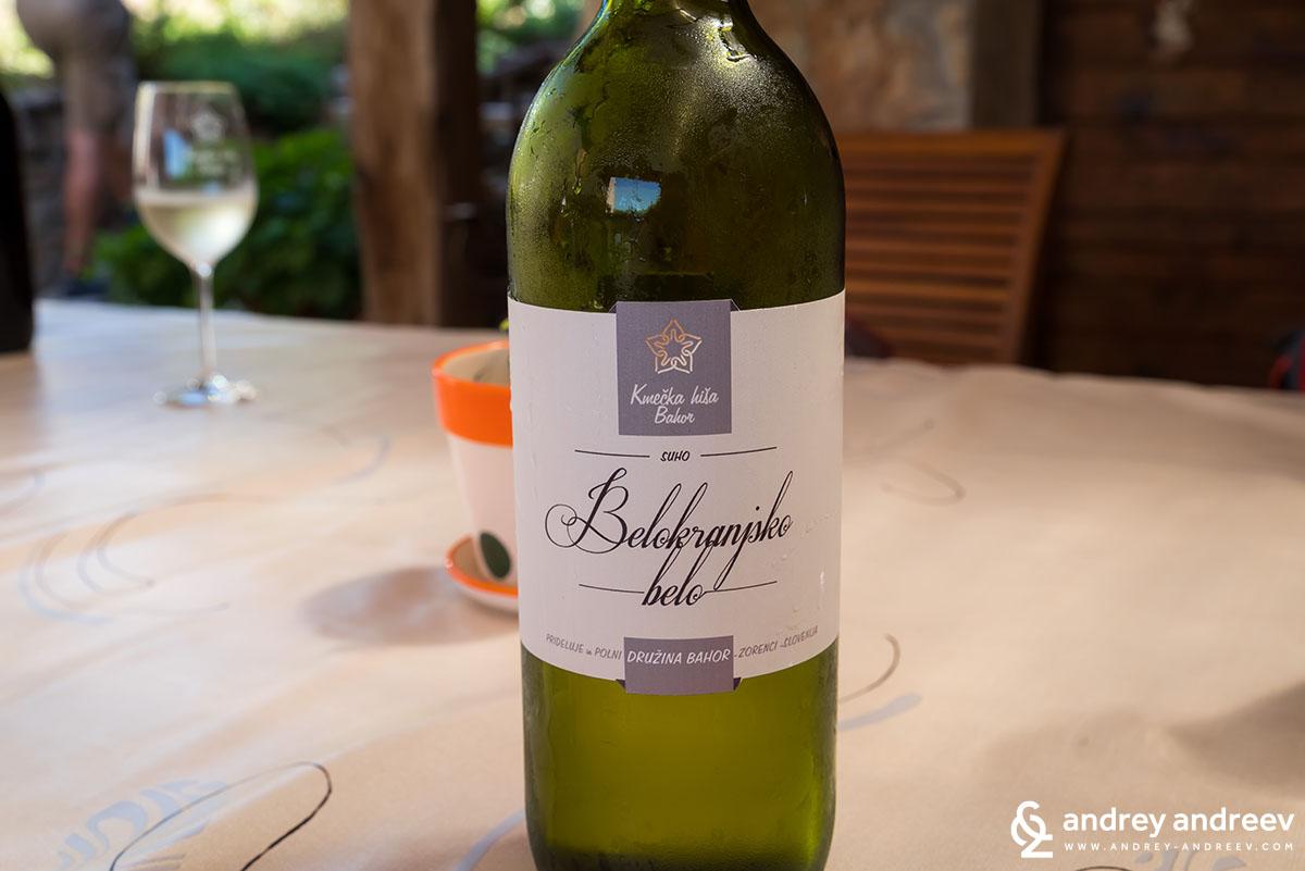 Belokranjsko Belo вино в Слвовения - винен туризъм в Европа