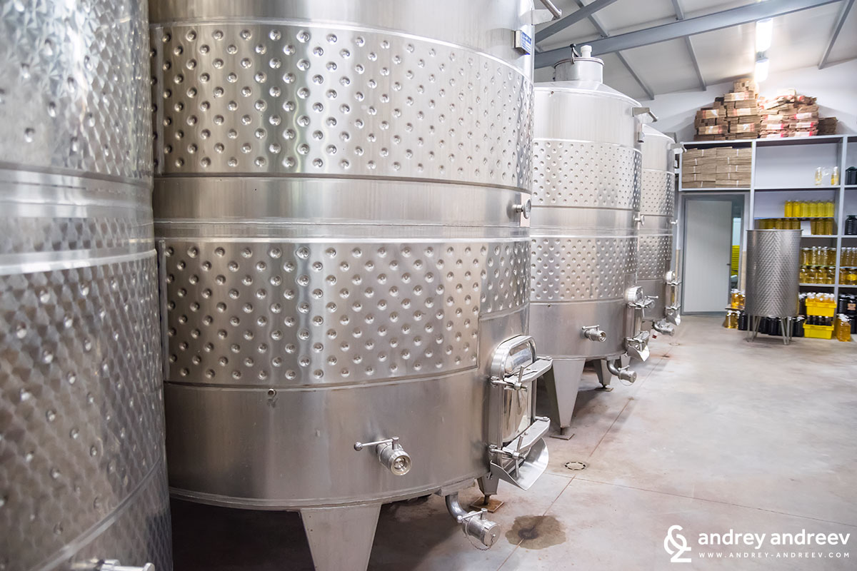 Fermentation room at Villa Bassarea winery, Bulgaria, Bulgarian winery, South Sakar winery