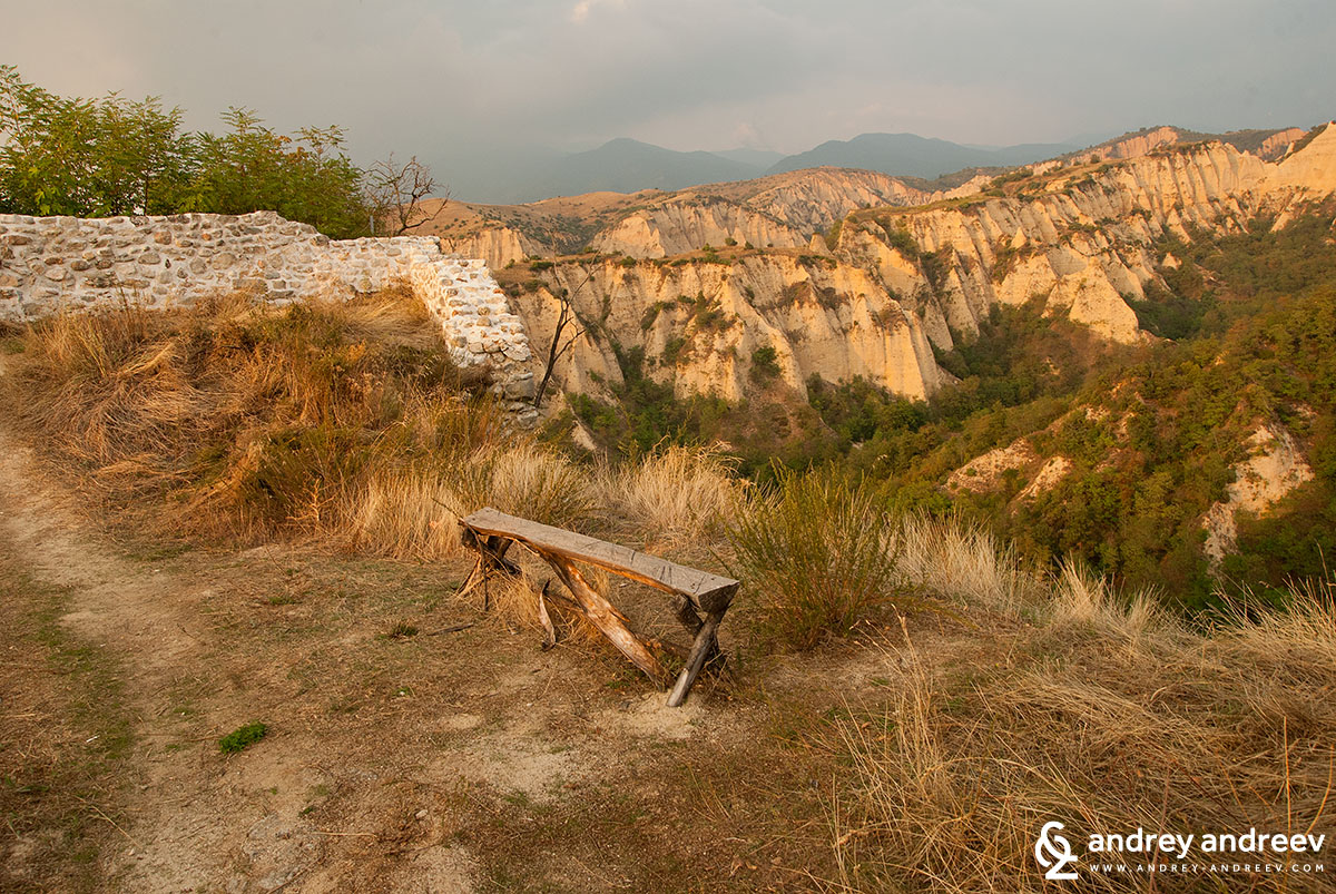 Vies from Saint Nicholas plateau to Melnik pyramids