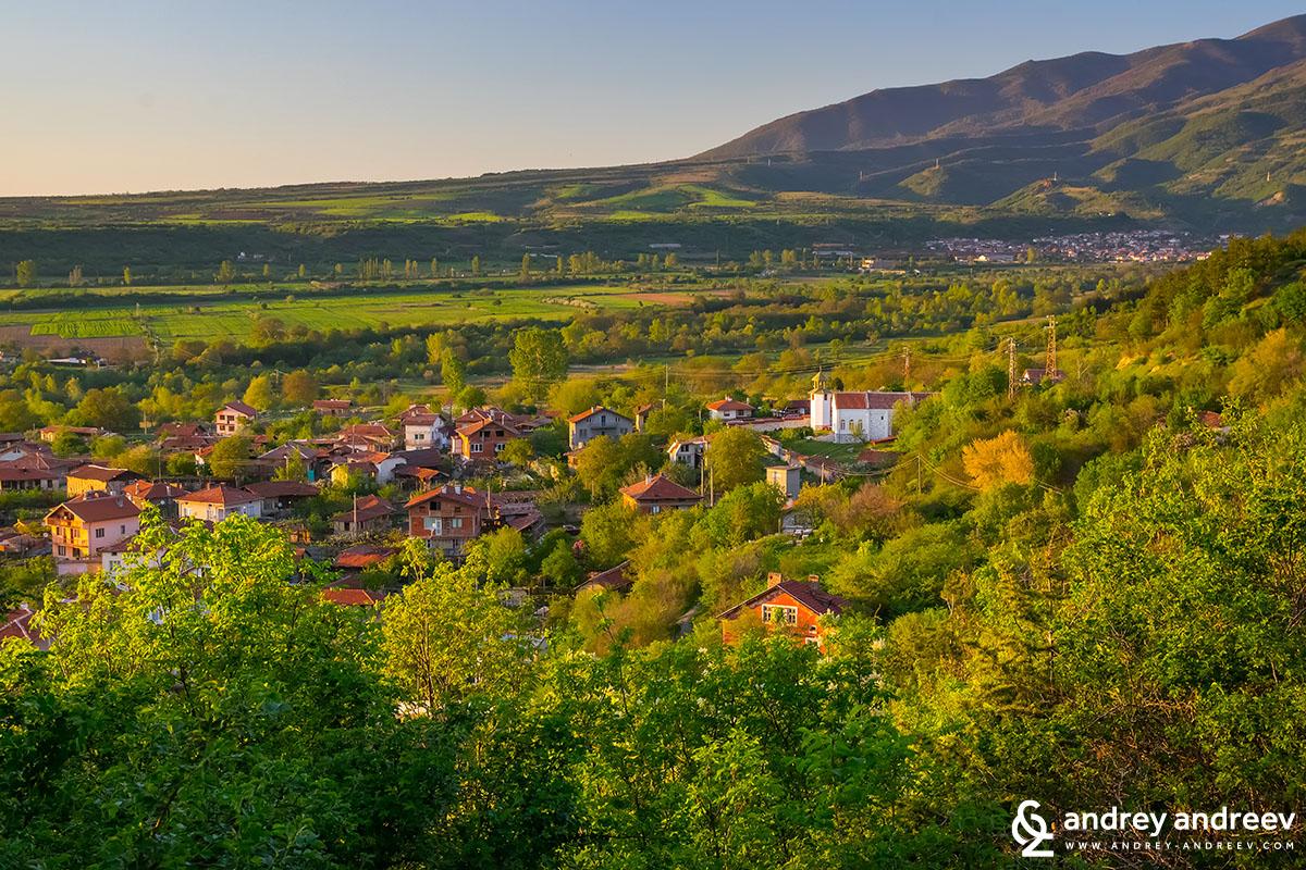 Село Стоб по залез