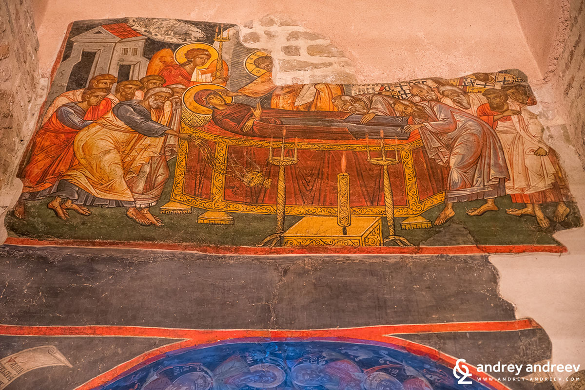 Wall paintings in St. Peter and Paul church in Veliko Tarnovo, Bulgaria