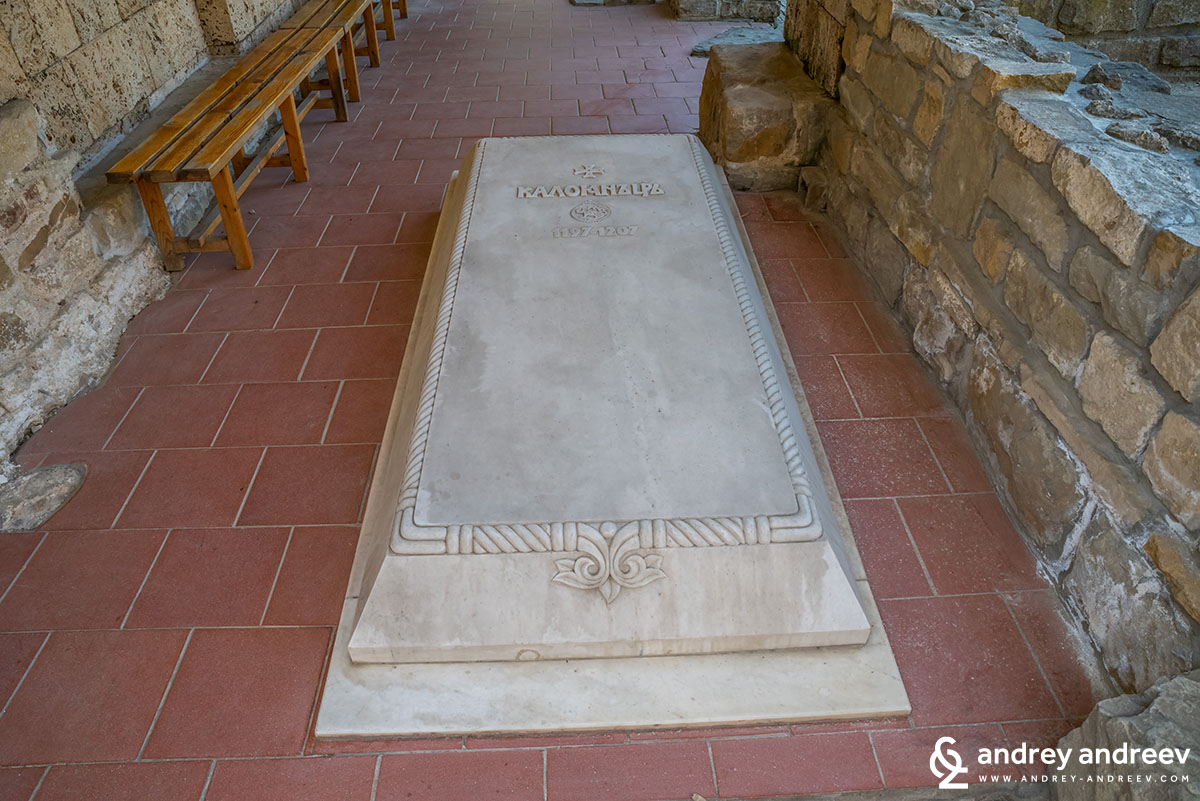 The grave of Tsar Kaloyan in Veliko Tarnovo, Bulgaria