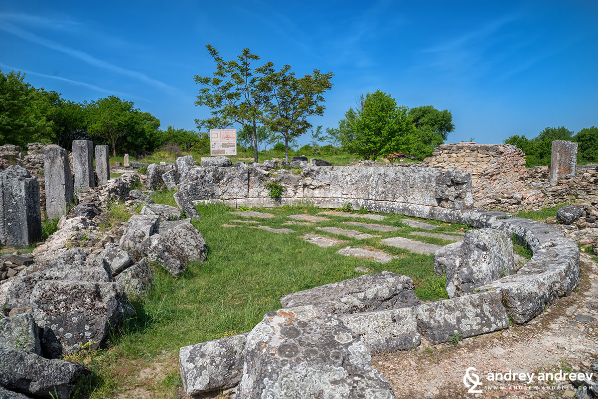 The remains of the Odeon at Nicopolis ad Istrum