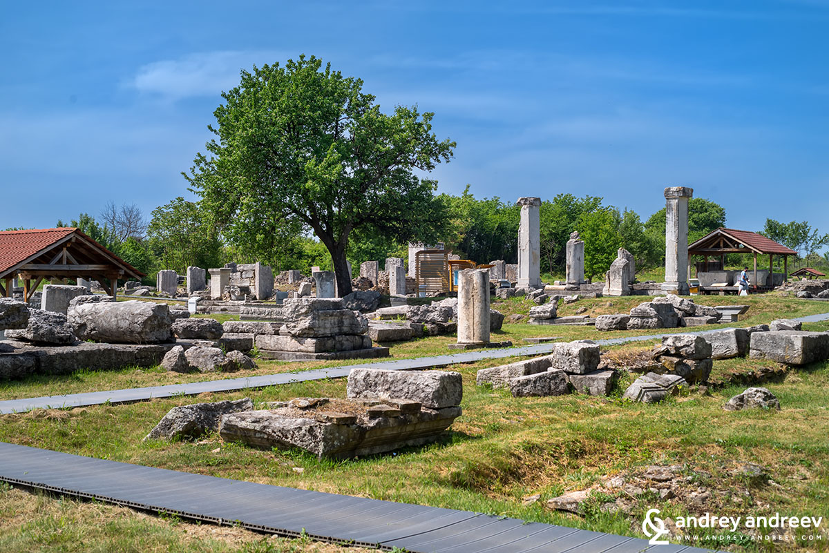 The central part of Nicopolis ad Istrum, an ancient Roman city in Bulgaria
