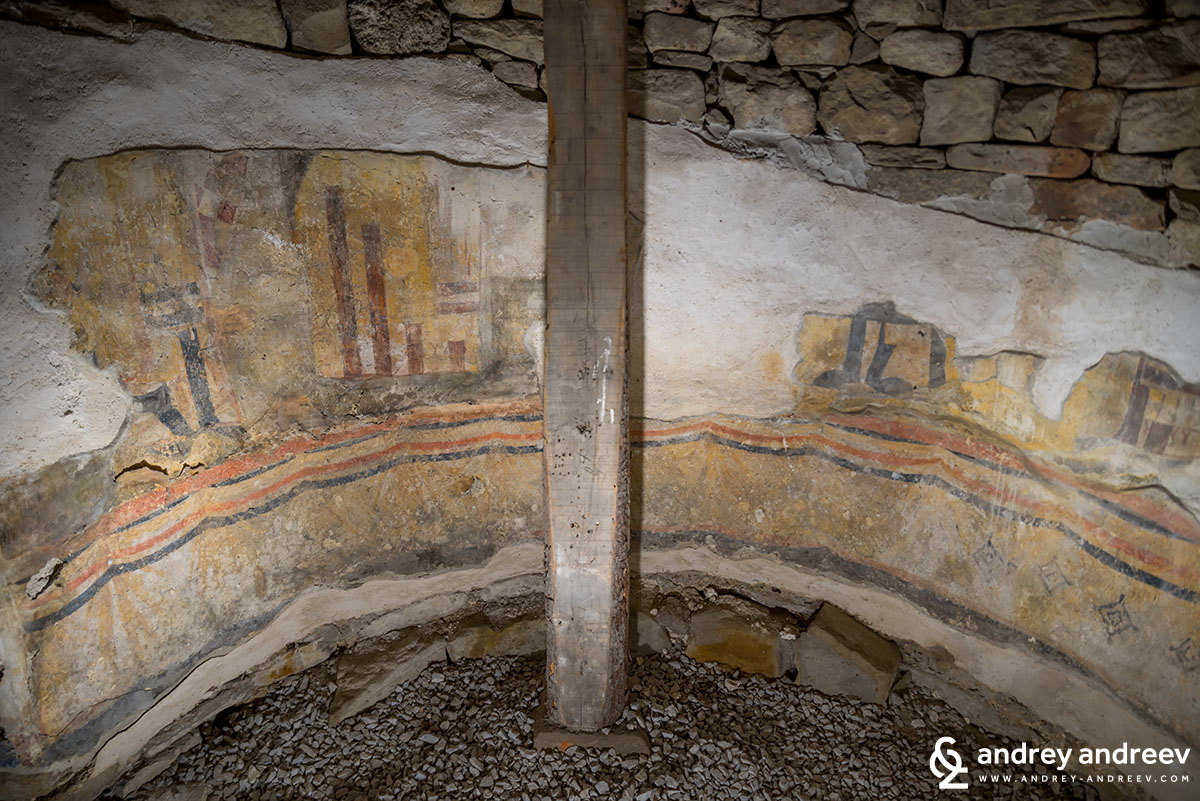 Frescoes in a church on Trapezitsa hill, Veliko Tarnovo, Bulgaria