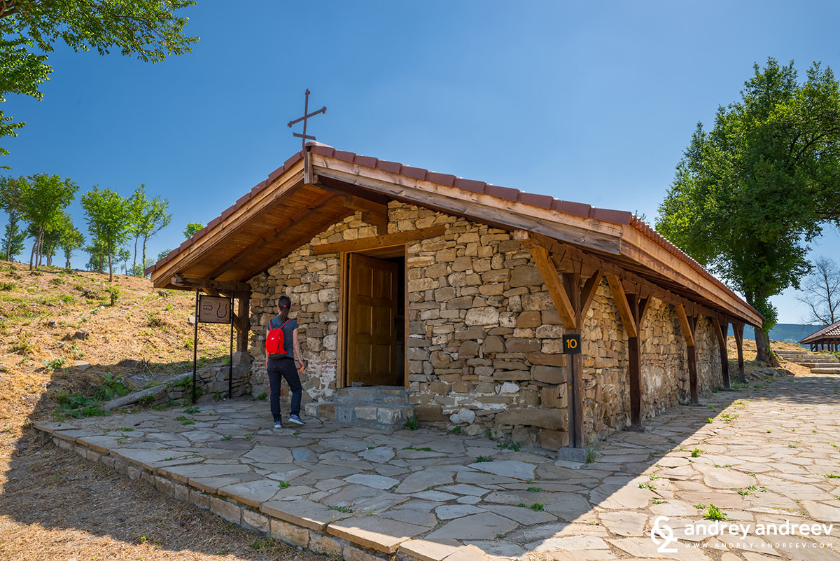 Maria discovering one of the churches on Trapezitsa