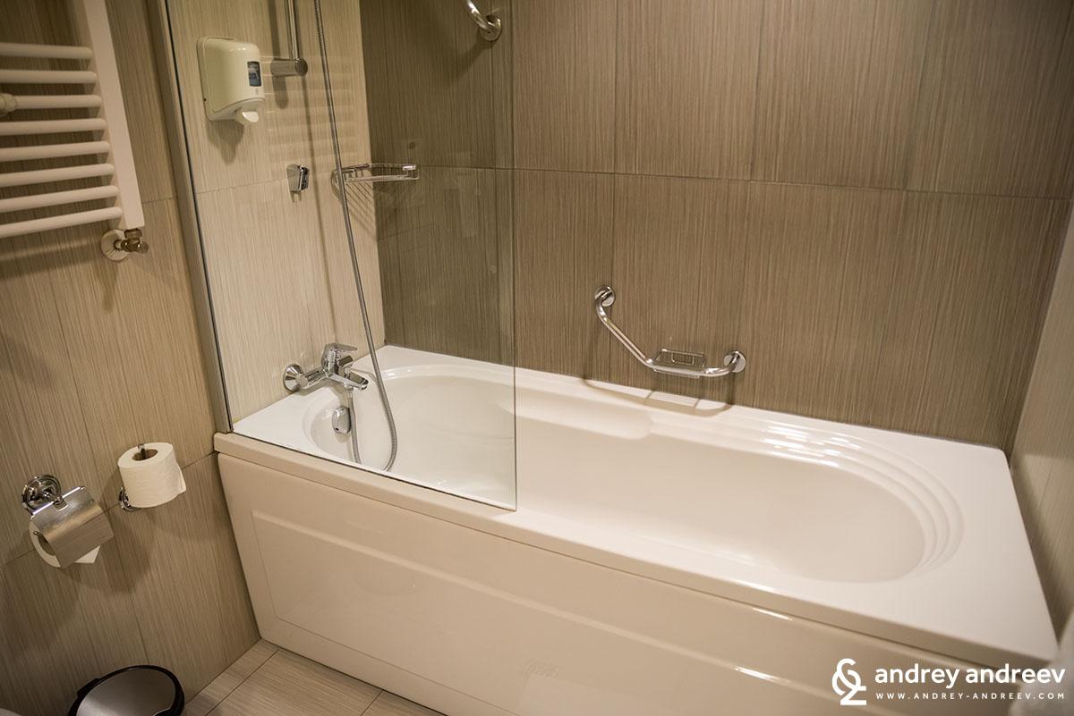 Bathroom at Hotel Lucky Bansko Bulgaria